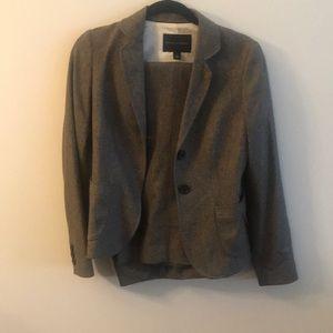 Brown herringbone suit